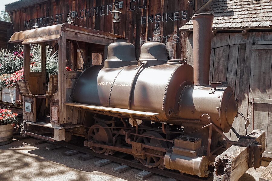 Knotts Ghost Town train