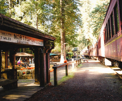 Historic Railroad: The Skunk Train, popular Fort Bragg CA Attraction