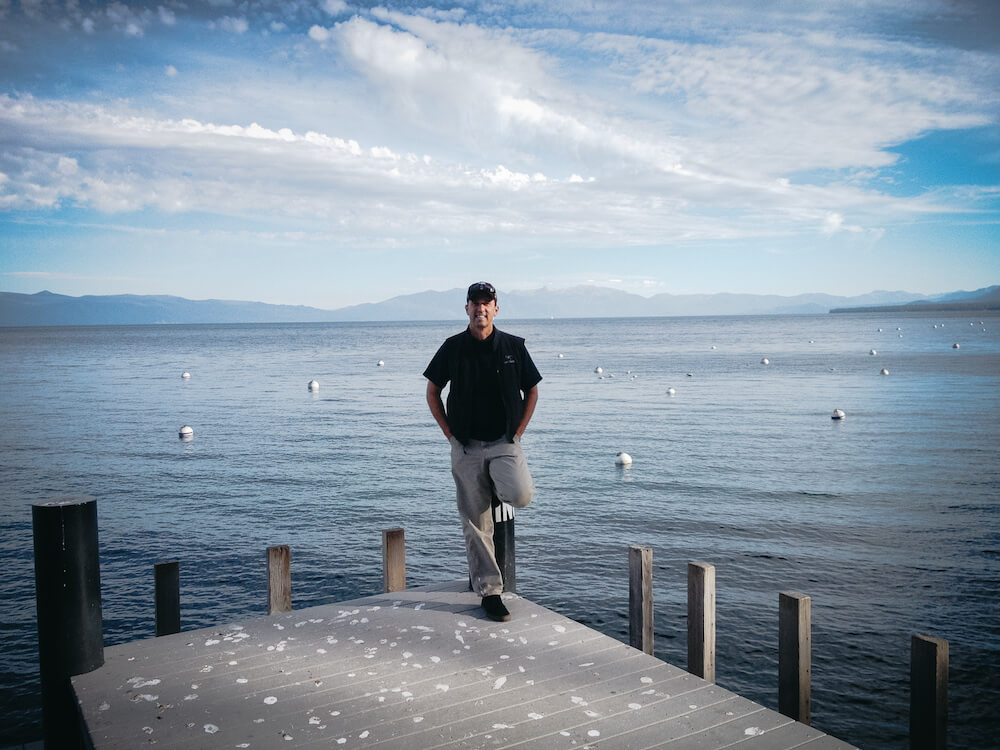 Troy at Lake Tahoe pier